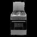 Von VAC6F031US 3 Gas + 1 Electric Cooker – Silver