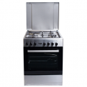 Von 7312NEI/VAC6S031UX 3 Gas + 1 Electric Cooker – Inox