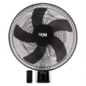 Von HFW661B/VSNC6611K Wall Fan with Remote – Black