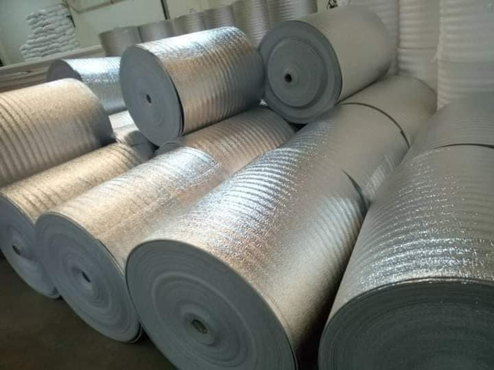 Roof Heat Insulation Double Laminate 50 m by 1.2 m by 10 mm Thickness