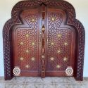 Curved Hand-Crafted Lamu Door