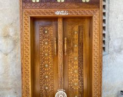 Solid Hand -Crafted Mvuli Lamu Door and Frame